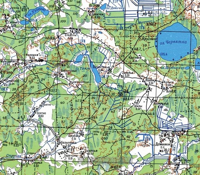 карта Иркутской области 1