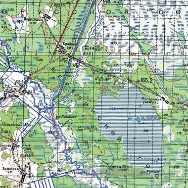 Топографическая карта жамбылской