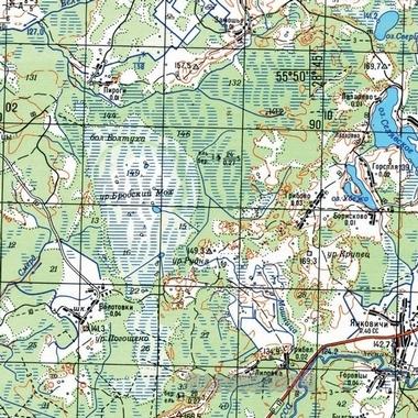 Топографическая карта Тувы