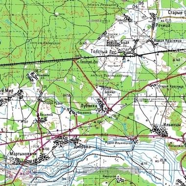 Топографическая карта Томской