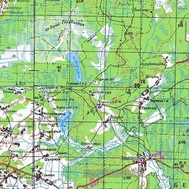 Топографическая Карта Солнечногорского Района Московской Области