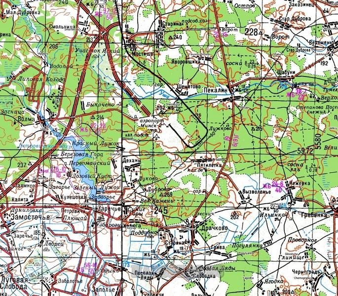 Топографическая карта Хакасии 2 км - детальная топокарта Хакасии ...