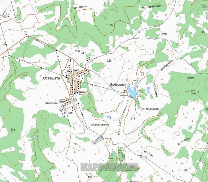 Подробная Карта Удомельского Района Тверской Области
