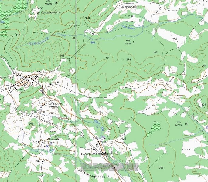 Подробная Карта Белогорска Амурской Области