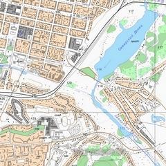 Топографическая карта Локнянского района 1 см - 250 м