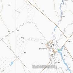 Топографическая карта Ижемского района 1 см - 250 м
