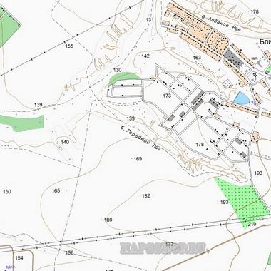 Топографическая карта Бологовского района 1 см - 250 м