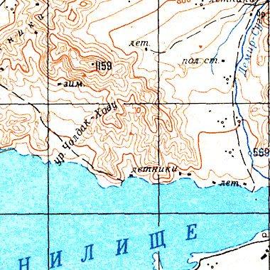 топографическая карта тывы