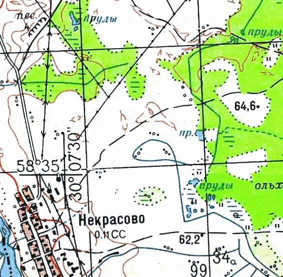 топографическая карта ленинградской области 1 см 500 м